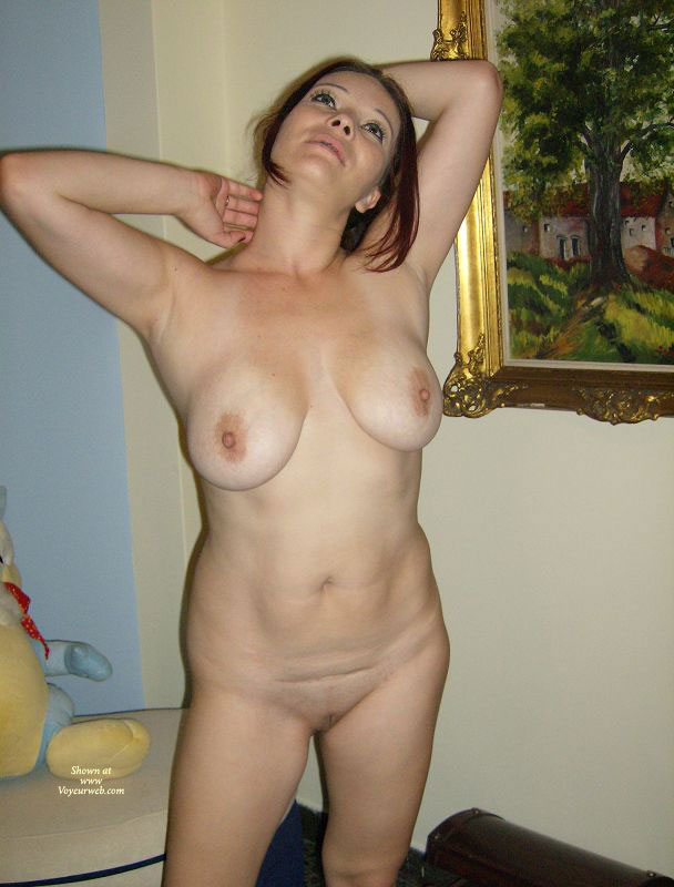 wife flashing on vacation